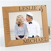 The Perfect Couple Personalized Photo Frame- 8x10 - 10317-L