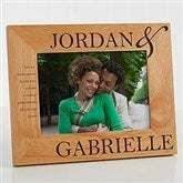 The Perfect Couple Personalized Photo Frame- 5 x 7 - 10317-M