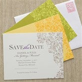 Elegant Floral Custom Save The Date Cards - 10320-C