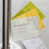 Elegant Floral Custom Save The Date Magnets - 10320-M