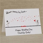 Blown Away By Love Personalized Greeting Card - 10334
