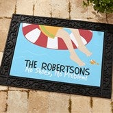 Summer Fun Recycled Rubber Back Personalized Doormat - 10343