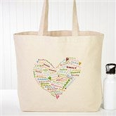Her Heart of Love Personalized Canvas Tote - 10352
