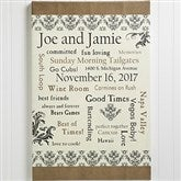 Our Life Together Personalized Canvas Print- 12