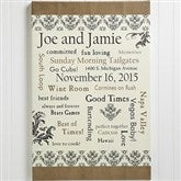 Our Life Together Personalized Canvas Art - 10354