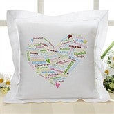 Her Heart of Love Personalized Linen Pillow - 10362