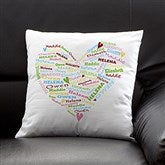 Her Heart of Love Personalized Throw Pillow - 10362