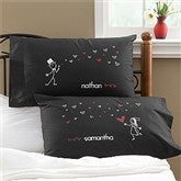 Blown Away By Love Personalized Black Pillowcase Set - 10371