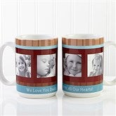 Photo Message Personalized Coffee Mug 15 oz.- White - 10381-L