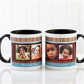 Photo Message Personalized Coffee Mug 11oz.- Black - 10381-B