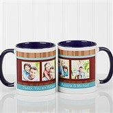 Photo Message Personalized Coffee Mug- 11oz- Blue - 10381-BL
