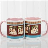 Photo Message Personalized Coffee Mug- 11oz.- Pink - 10381-P