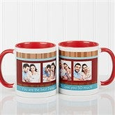 Photo Message Personalized Coffee Mug- 11oz.- Red - 10381-R