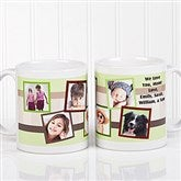 Any Message Photo Collage Personalized Coffee Mug 11 oz.- White - 10382-S