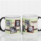 Any Message Photo Collage Personalized Mug 11 oz.- Black - 10382-B