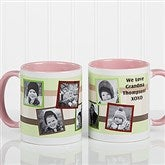 Any Message Photo Collage Personalized Mug 11 oz.- Pink - 10382-P