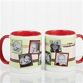 Any Message Photo Collage Personalized Mug 11 oz.- Red - 10382-R