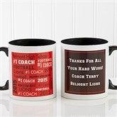 All-Star Coach Personalized Coffee Mug 11oz.- Black - 10384-B