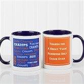 All-Star Coach Personalized Coffee Mug 11oz.- Blue - 10384-BL