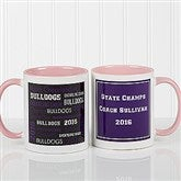 All-Star Coach Personalized Coffee Mug 11oz.- Pink - 10384-P