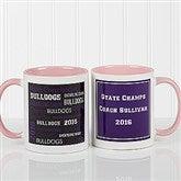 All-Star Coach Personalized Coffee Mug 11oz.- Pink - 10384-P