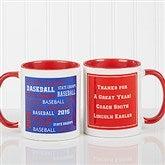 All-Star Coach Personalized Coffee Mug 11oz.- Red - 10384-R