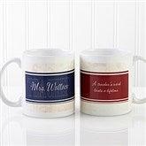 Inspiring Teacher Personalized Coffee Mug- 11 oz.- White - 10412-S