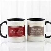 Inspiring Teacher Personalized Coffee Mug- 11oz.- Black - 10412-B