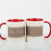 Inspiring Teacher Personalized Coffee Mug- 11oz.- Red - 10412-R