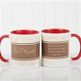 Name Your Career Personalized Coffee Mug 11oz.- Red - 10413-R