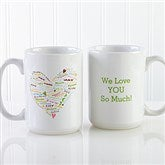 Her Heart of Love Personalized Coffee Mug- 15 oz. - 10430-L