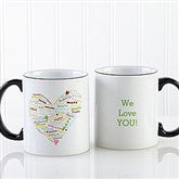 Her Heart of Love Personalized Coffee Mug 11oz.- Black - 10430-B