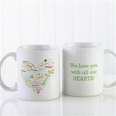 Her Heart of Love Personalized Coffee Mug 11 oz.- White - 10430-W