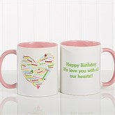Her Heart of Love Personalized Coffee Mug 11 oz.- Pink - 10430-P
