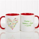 Her Heart of Love Personalized Coffee Mug 11 oz.- Red - 10430-R