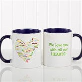 Her Heart of Love Personalized Coffee Mug 11 oz.- Blue - 10430-BL