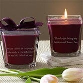 For My Bridesmaid Scented Spa Candle- Mulberry - 10433-M
