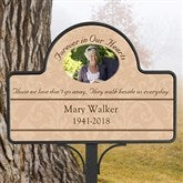 Forever In Our Hearts Custom Photo Memorial Magnetic Garden Sign - 10443-M