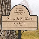 Forever In Our Hearts Custom Memorial Magnetic Garden Sign - 10443-NM