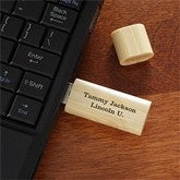 You Name It Personalized Bamboo USB Flash Drive