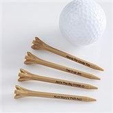 Tee It Up! Personalized Golf Tees- Natural - 10501-N