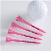 Tee It Up! Personalized Golf Tees- Pink - 10501-P