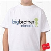 Big/Baby Brother & Sister Personalized Hanes® Youth T-Shirt - 10509-YCT