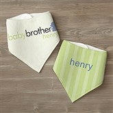 Big/Baby Brother & Sister Personalized Bandana Bibs- Set of 2 - 10509-BB