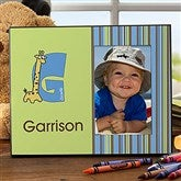 Boy Alphabet Animals Personalized Frame - 10513