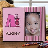 Girl Alphabet Animals Personalized Frame - 10516