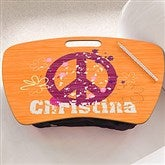 Pretty Peace Personalized Lap Desk - 10522