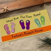 Wipe Your Flip Flops Here Oversized Personalized Doormat- 24x48 - 10545-O