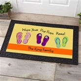 Wipe Your Flip Flops Here Personalized Doormat- 20x35 - 10545-M