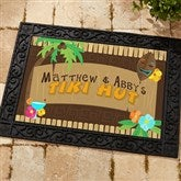 Tropical Paradise Personalized Recycled Rubber Back Doormat - 10546